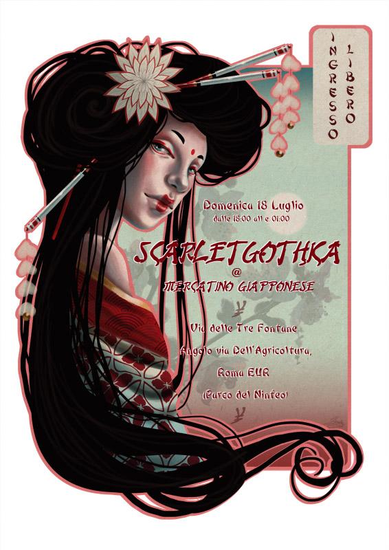 Geisha - Flyer Mercatino Giapponese